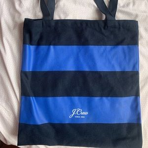 (JCREW)striped canvas tote for national stripe day
